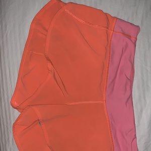 lululemon athletica Shorts - Lululemon speed shorts size 8!!! bright orange